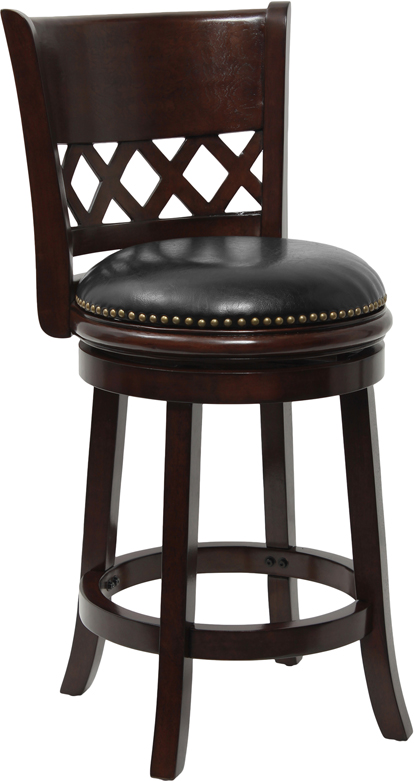 Counter Height Wood Bar Stool with Black Leather Swivel  : ta 11024 ca ctr gg from ebay.com size 414 x 781 jpeg 130kB