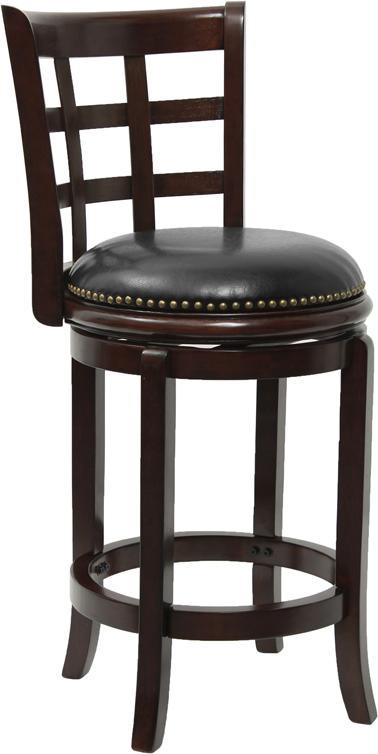 Counter Height Wood Bar Stool with Black Leather Swivel  : ta 68524 ca ctr gg from www.ebay.com size 378 x 754 jpeg 111kB