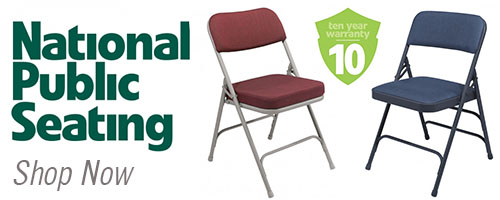 National Public Seating Folding Chairs Banner