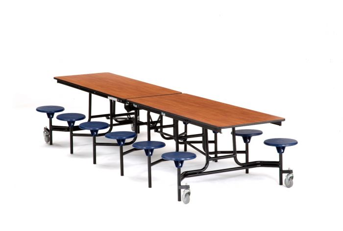 Nps 10 Rectangular Cafeteria Table With 12 Stools Fiberboard Core