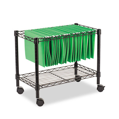 Alera Single-Tier Rolling File Cart with Storage
