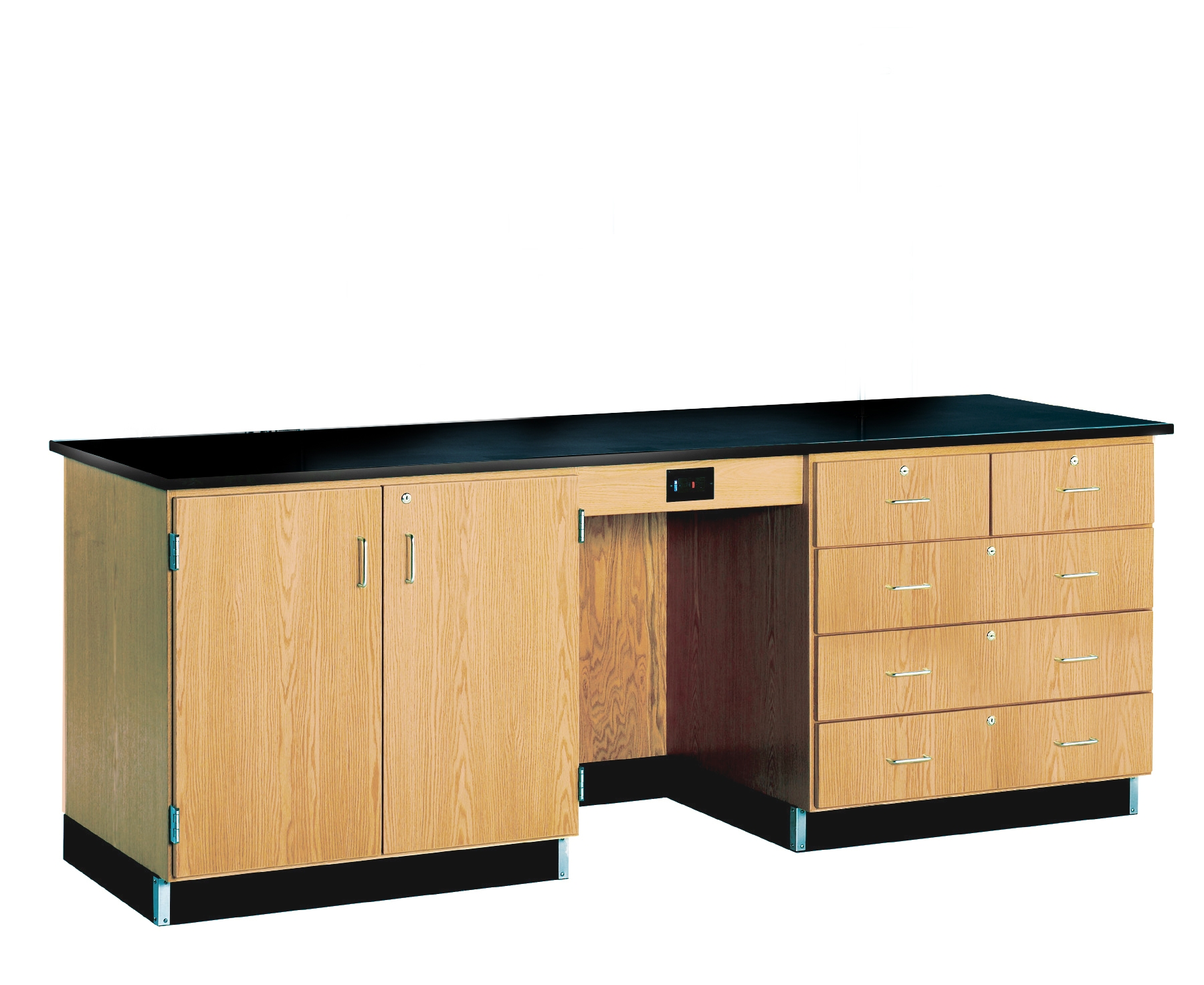 Diversified Woodcrafts 8' Instructor's Desk with Epoxy Resin Top