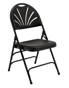 4 PACK National Public Seating 1100 Series Fan Back Plastic Folding Chair