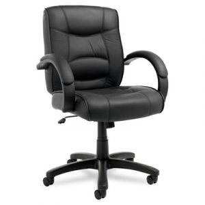 Alera Top Grain Leather Mid-Back Executive Chair