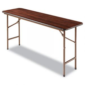 "Alera 1200 lb Capacity Commercial Mahogany Laminate 18"" W x 60"" L Folding Table"