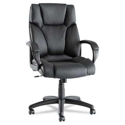 Alera Fraze Series High Back Black Leather Executive Office Swivel Chair