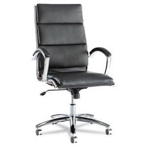 Alera Designer Series High-Back Modern Executive Chair with Chrome Frame