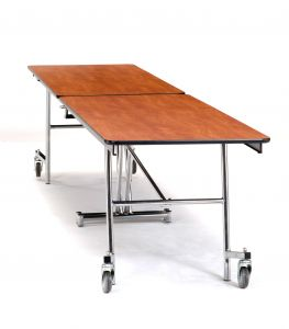 NPS 8' Mobile Rectangular Cafeteria & Activity Table - Plywood Core