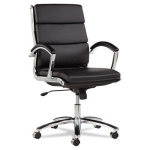 Alera Designer Series Mid-Back Modern Executive Chair with Chrome Frame