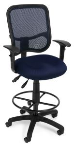 Ergonomic Office Drafting Stool with Mesh Back & Arms by OFM