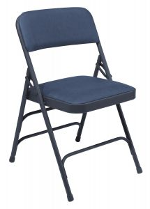 4 PACK National Public Seating 1300 Series Vinyl Padded Folding Chair Triple Brace