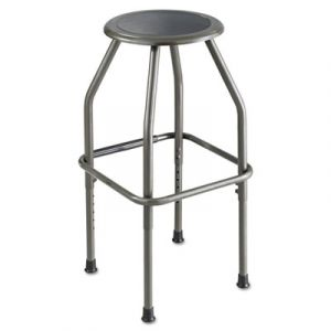 Safco Pewter Backless Industrial Work Stool