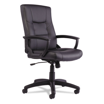 Alera Contemporary Black Leather Executive Swivel Office Chair