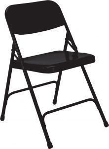 4 PACK National Public Seating Commercial All-Steel Folding Chair 200 Series