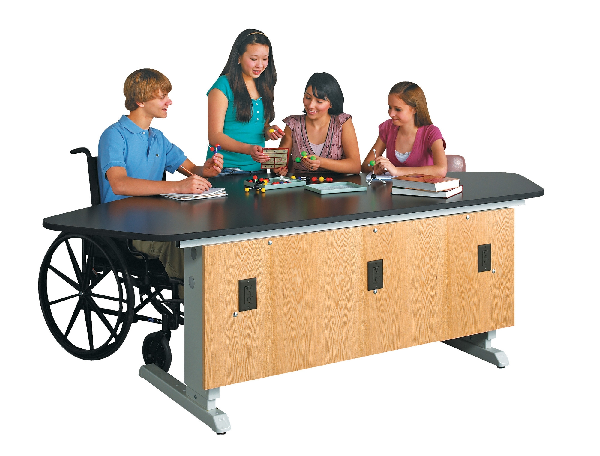 Diversified Woodcrafts EZ-Lift 4 Student Workstation - Epoxy Top