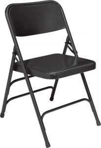 4 PACK National Public Seating Commercial Steel Folding Chair 300 Series with Triple Braces