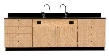 Diversified Woodcrafts Wall Service Bench with Drawers - Epoxy  Top
