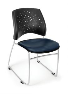 4 PACK OFM Stars Vinyl Stacking Chair