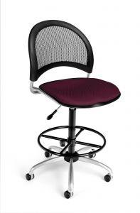 Designer Moon Mesh Back & Fabric Seat Armless Drafting Stool