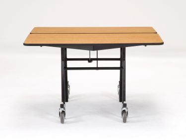 "NPS 48"" x 48"" Mobile Square Cafeteria & Activity Table - Particleboard Core"