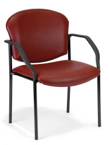 4 PACK OFM Rumford Series Vinyl Stacking Chair with Arms