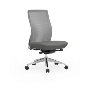 Cherryman Eon Series Ergonomic Armless Task Chair with White Frame