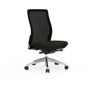 Cherryman Eon Series Ergonomic Armless Task Chair with Black Frame