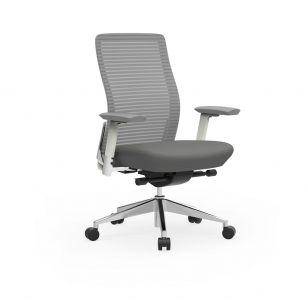 Cherryman Eon Series Ergonomic Task Chair with White Frame
