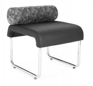 DUO Series Backless Lounge Bench with Pillow