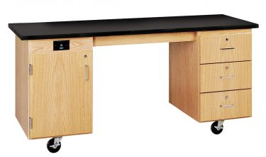 Diversified Woodcrafts ADA Mobile Lab Unit - Solid Top