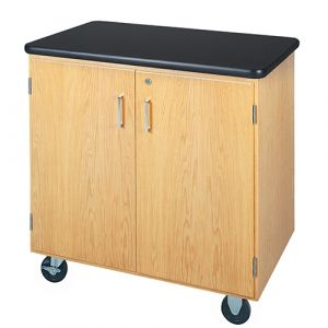 Diversified Woodcrafts Mobile Storage Cabinet with ChemGuard Top