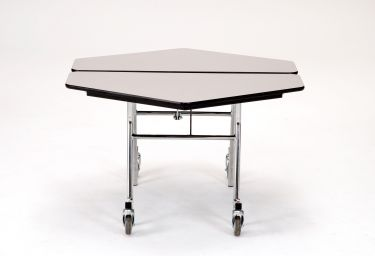 "NPS 48"" x 48"" Mobile Hexagon Cafeteria & Activity Table - Particleboard Core"