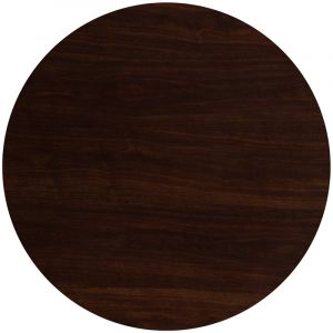 """Pro-Tough Commercial Round Resin Walnut Table Top-48"""" D"""