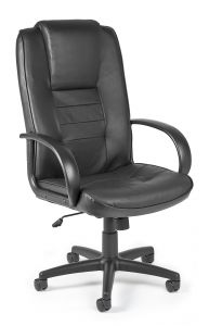 OFM Sedley Series Black Leather High Back Executive Office Chair