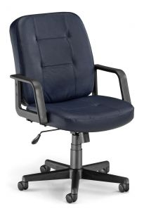 OFM Leather Executive Mid-Back Conference Chair
