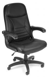 OFM Leather Executive Conference Chair with Flip Up Arms