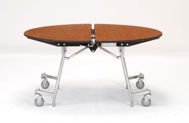 "NPS 48"" Mobile Round Cafeteria & Activity Table - Fiberboard Core"