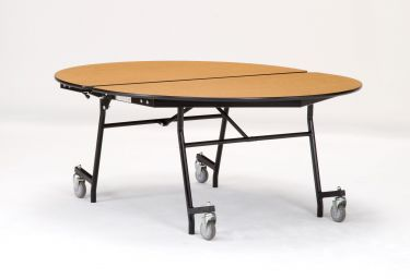 "NPS 60"" x 72"" Mobile Oval Cafeteria & Activity Table - Fiberboard Core"