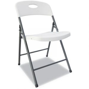 4 PACK Alera Commercial White Plastic Resin Folding Chair