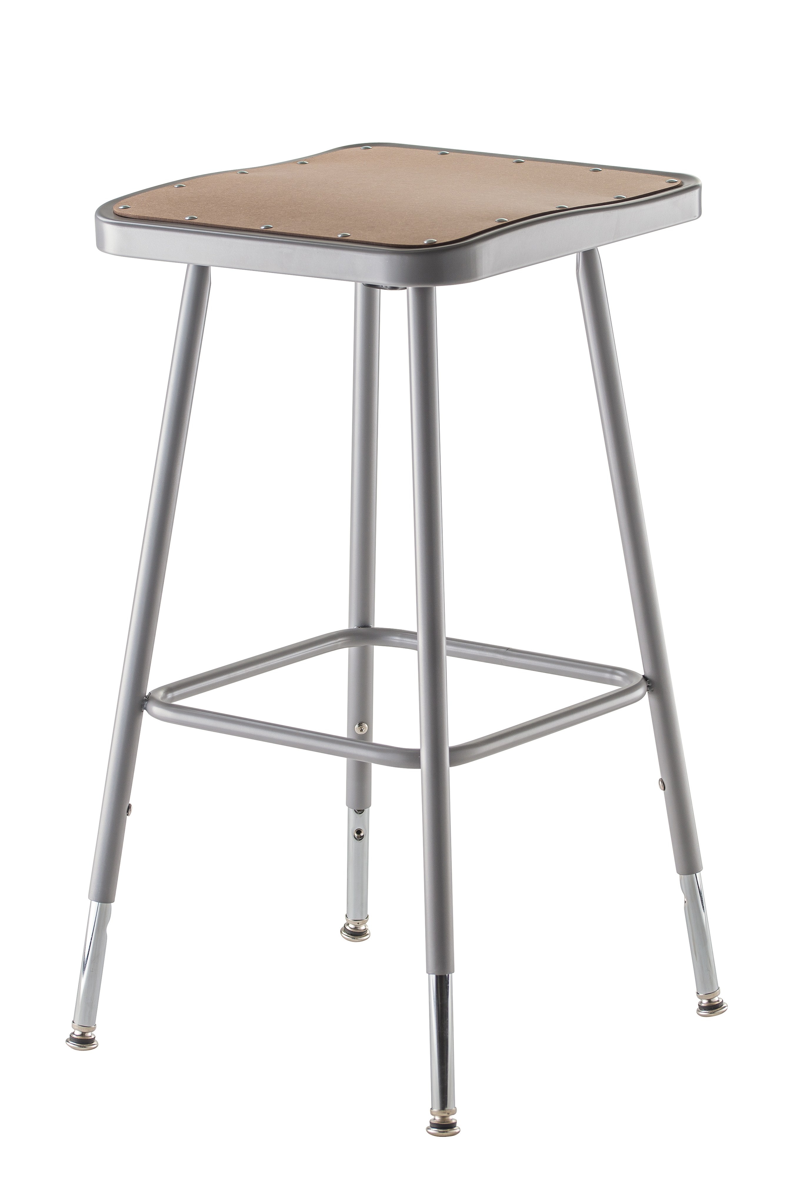 """2 PACK NPS Square Lab Stool - 25"""" - 33"""" Adjustable Height"""