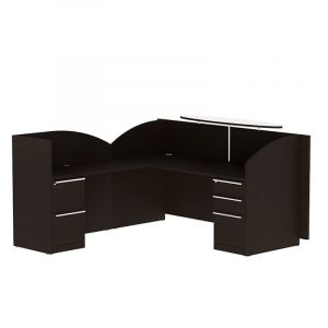 Cherryman Verde Series Reception L-Desk with Left Return