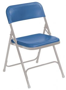 4 PACK National Public Seating 800 Series Commercial Plastic Folding Chair