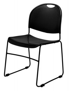 4 PACK Compact Plastic Stack Chair with Ganging by NPS Commercialine
