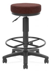 OFM Mobile Fabric Drafting Stool