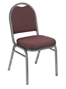 4 PACK Dome 9260 Series Fabric Banquet Chair - Silver Vein Frame