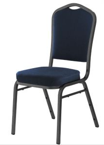 4 PACK National Public Seating 9300 Series Midnight Blue Stack Chair