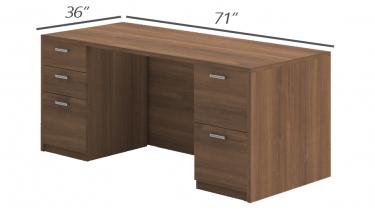 Amber Series Double Pedestal Desk-Large