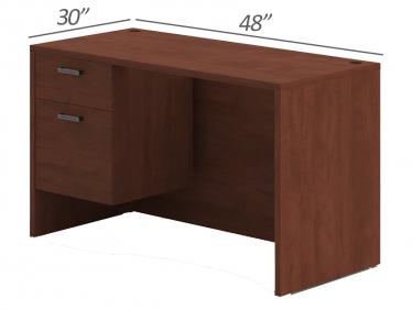 Amber Series Single Suspended Pedestal Desk-Medium