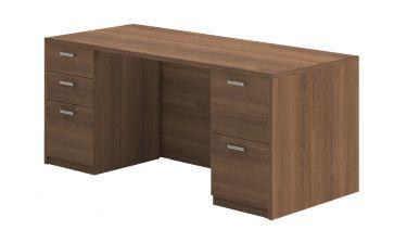 Amber Series Double Pedestal Desk