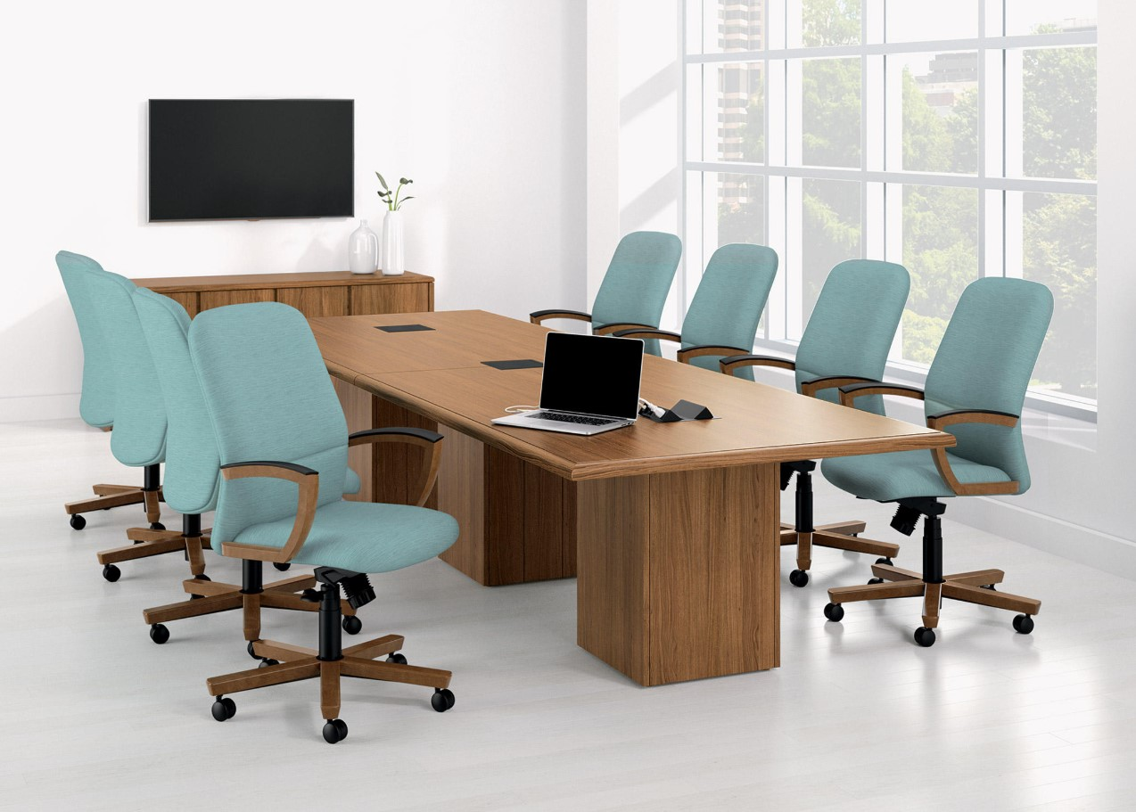 "Arrowood Conference Table with Panel Base-48"" W x 120"" L"